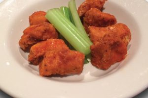 Bonless wings on a plate