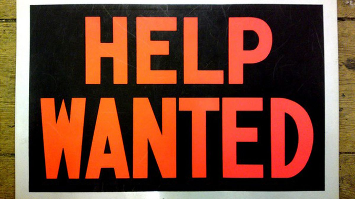 Help Wanted sign as we are hiring