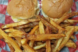 Bailey's burger platter
