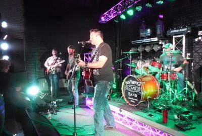Dan Varner Band on stage at Jimmy B's