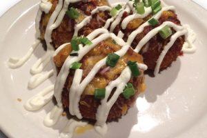 potato spurs on a plate