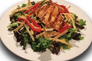 southwest salad on a plate
